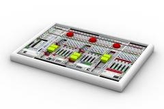 Mezclador de sonidos para la grabación de audio Foto de archivo libre de regalías