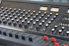 Mezclador del audio del primer Fotos de archivo libres de regalías