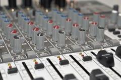 Mezclador del estudio de la música Imágenes de archivo libres de regalías