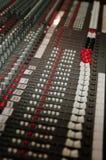 Mezclador del estudio de los sonidos fotografía de archivo