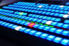 Mezclador del vídeo de la televisión Imágenes de archivo libres de regalías