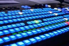 Mezclador del vídeo del equipo de televisión Imagen de archivo libre de regalías