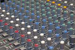 Mezclador multi del canal Foto de archivo libre de regalías