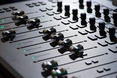 Mezclador profesional de sonidos Imágenes de archivo libres de regalías
