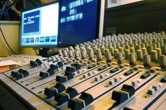 Mezclador y ordenador de los sonidos Fotografía de archivo