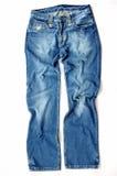 Mezclilla azul Imagen de archivo libre de regalías