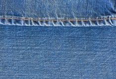 Mezclilla azul del dril de algodón Imagen de archivo libre de regalías