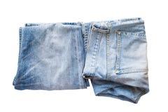 Mezclilla azul del dril de algodón Foto de archivo