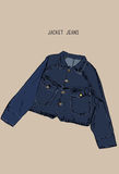 Mezclilla a mano de la chaqueta del dril de algodón del bosquejo del objeto Fotografía de archivo libre de regalías
