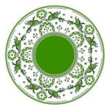 Mezensky ornament with green firebird Stock Photo