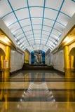 Mezhdunarodnaya地铁车站在圣彼德堡,俄罗斯 免版税库存图片
