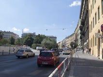 Mezibranská street, Prague stock image