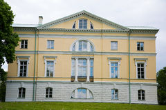 The Mezotne Palace - The Pearl of The Latvian Classicism. BAUSKA, LATVIA - May 20, 2016. The Mezotne Palace - The Pearl of The Latvian Classicism Stock Image