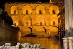 Mezquita πρόσοψη τη νύχτα Στοκ Φωτογραφίες