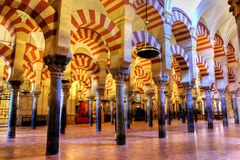 The Mezquita. Interior of the Mezquita in Cordoba, Spain Royalty Free Stock Image