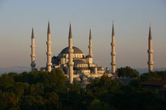 Mezquita azul 2 Foto de archivo libre de regalías