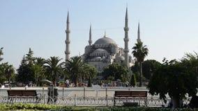 Mezquita azul almacen de metraje de vídeo
