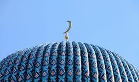 Mezquita azul enorme del árabe de la bóveda fotografía de archivo