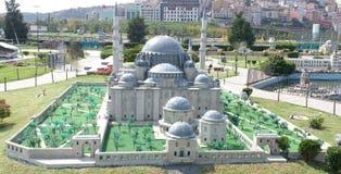 Mezquita azul, opinión del resorte Fotos de archivo libres de regalías