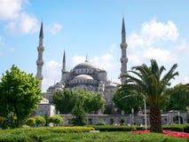 Mezquita azul, opinión del resorte Foto de archivo