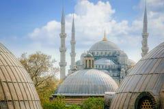 Mezquita azul, tejado de Sultanahmet Camii en Estambul, Turquía Imagen de archivo libre de regalías
