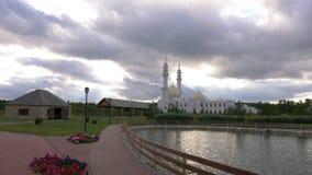 Mezquita blanca Bolgar, Volga Bulgaria, Kazán Tartaristán Rusia en fondo almacen de metraje de vídeo