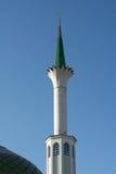 Mezquita blanca con Green Dome Imagen de archivo libre de regalías