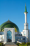 Mezquita blanca con Green Dome Fotos de archivo