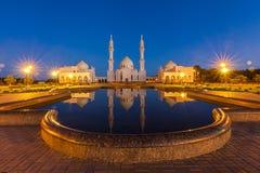 Mezquita blanca en el Bolgar, Tartaristán, Rusia Imagenes de archivo