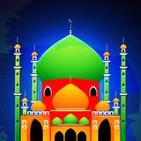 Mezquita brillante para la celebración islámica del festival Imagen de archivo libre de regalías