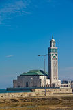 Mezquita Casablanca de Hassan II Imagen de archivo libre de regalías