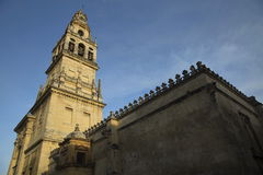 Mezquita Cathedral of Cordoba on a bright sunny day Royalty Free Stock Image