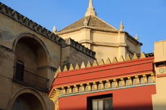 Mezquita Cathedral of Cordoba on a bright sunny day Royalty Free Stock Images