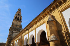 Mezquita Cathedral of Cordoba on a bright sunny day Stock Photos