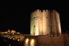 Mezquita Cathedral of Cordoba at night Royalty Free Stock Photo