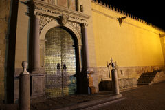 Mezquita Cathedral of Cordoba at night Royalty Free Stock Photography