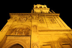 Mezquita Cathedral of Cordoba at night Stock Photography