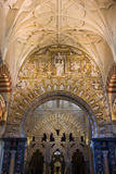 Mezquita Cathedral Interior in Cordoba Royalty Free Stock Photography