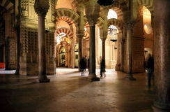 Mezquita in Cordoba. Interior of the mezquita in Cordoba, Andalucia Spain Stock Images
