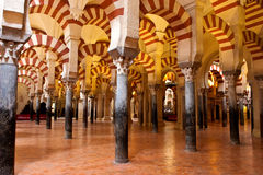 Mezquita of Cordoba. Details of the inside Mezquita of Cordoba in Spain Stock Photo