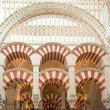 Mezquita, Cordoba. The prayer hall inside Mezquita in Cordoba, Spain Stock Photo