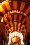 Mezquita cordoby łuki Fotografia Stock