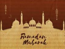 Mezquita creativa para la celebración de Ramadan Mubarak Fotos de archivo