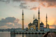 Mezquita cristalina en Kuala Terengganu, Malasia fotos de archivo