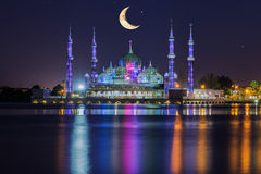 Mezquita cristalina en Kuala Terengganu, Malasia imagenes de archivo