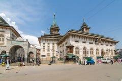 Mezquita de 200 años de Masjid Dastgeer Sahib en Srinagar, Cachemira, la India Fotos de archivo