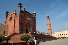 Mezquita de Badshahi Foto de archivo