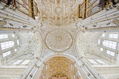 Mezquita de Córdova, imagem larga do ângulo da catedral Fotografia de Stock Royalty Free