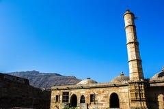 Mezquita de Champaner en Gujarat, la India Foto de archivo