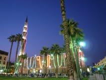 Mezquita de El Cairo Al-Hussein   Imagenes de archivo